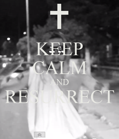 Poster: KEEP CALM AND RESURRECT