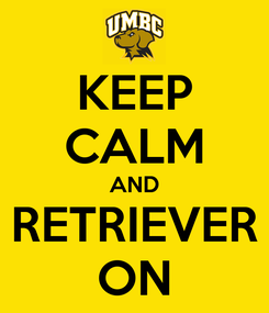 Poster: KEEP CALM AND RETRIEVER ON
