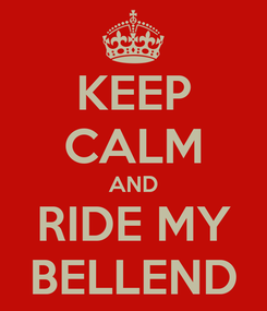 Poster: KEEP CALM AND RIDE MY BELLEND
