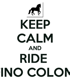 Poster: KEEP CALM AND RIDE  PASO FINO COLOMBIANO