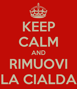 Poster: KEEP CALM AND RIMUOVI LA CIALDA