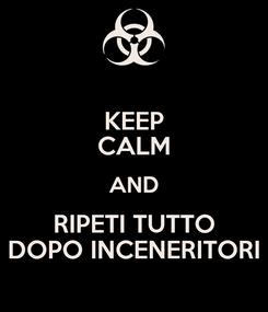 Poster: KEEP CALM AND RIPETI TUTTO DOPO INCENERITORI