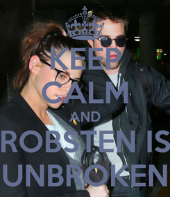 Poster: KEEP CALM AND ROBSTEN IS UNBROKEN