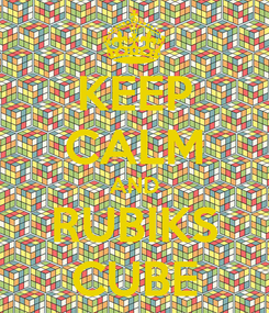 Poster: KEEP CALM AND RUBIKS CUBE