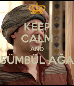 Poster: KEEP CALM AND SÜMBÜL AĞA