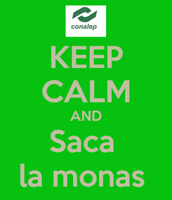 Poster: KEEP CALM AND Saca  la monas