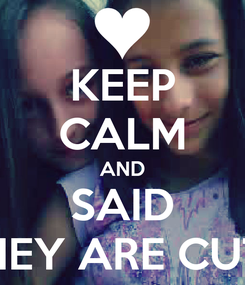 Poster: KEEP CALM AND SAID THEY ARE CUTE