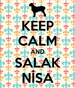 Poster: KEEP CALM AND SALAK NİSA