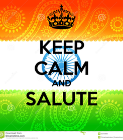 Poster: KEEP CALM AND SALUTE