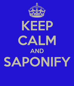 Poster: KEEP CALM AND SAPONIFY