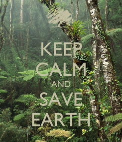Poster: KEEP CALM AND SAVE EARTH