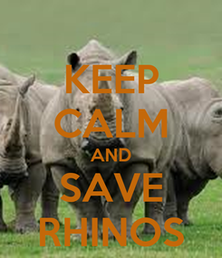 Poster: KEEP CALM AND SAVE RHINOS