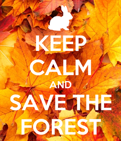 Poster: KEEP CALM AND SAVE THE FOREST