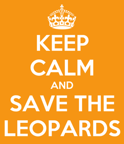 Poster: KEEP CALM AND SAVE THE LEOPARDS