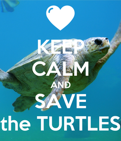 Poster: KEEP CALM AND SAVE the TURTLES