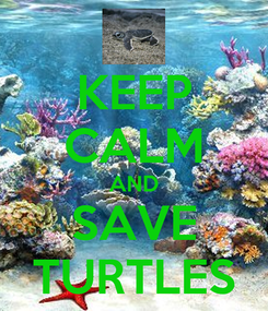 Poster: KEEP CALM AND SAVE TURTLES