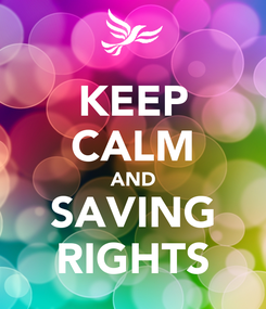 Poster: KEEP CALM AND SAVING RIGHTS