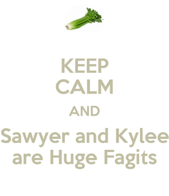 Poster: KEEP CALM AND Sawyer and Kylee are Huge Fagits