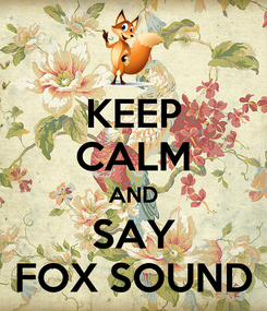 Poster: KEEP CALM AND SAY FOX SOUND