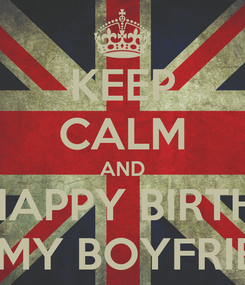Poster: KEEP CALM AND SAY HAPPY BIRTHDAY  TO MY BOYFRIEND