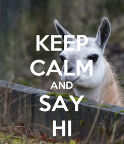 Poster: KEEP CALM AND SAY HI