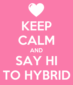Poster: KEEP CALM AND SAY HI TO HYBRID
