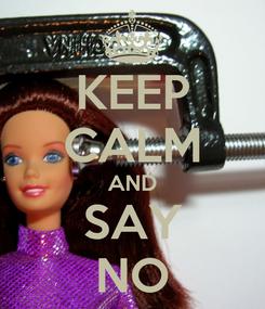 Poster: KEEP CALM AND SAY NO