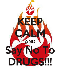 Poster: KEEP CALM AND Say No To DRUGS!!!