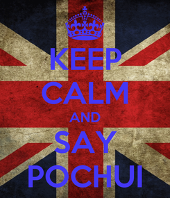 Poster: KEEP CALM AND SAY POCHUI