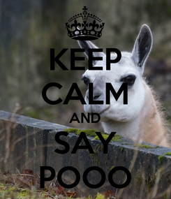 Poster: KEEP CALM AND SAY POOO