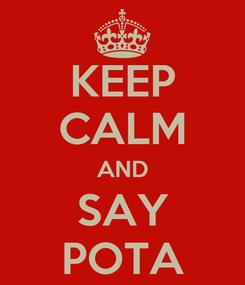 Poster: KEEP CALM AND SAY POTA
