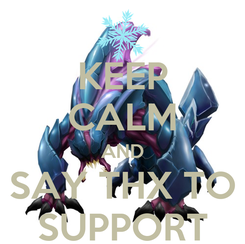 Poster: KEEP CALM AND SAY THX TO SUPPORT