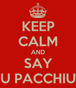 Poster: KEEP CALM AND SAY U PACCHIU