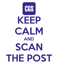 Poster: KEEP CALM AND SCAN THE POST