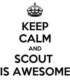 Poster: KEEP CALM AND SCOUT  IS AWESOME