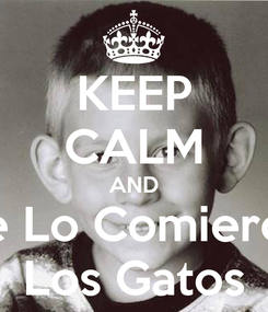 Poster: KEEP CALM AND Se Lo Comieron Los Gatos