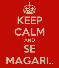 Poster: KEEP CALM AND SE MAGARI..
