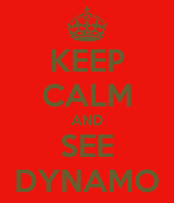 Poster: KEEP CALM AND SEE DYNAMO