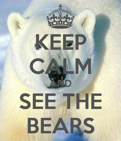 Poster: KEEP CALM AND SEE THE BEARS