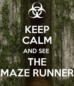 Poster: KEEP CALM AND SEE  THE MAZE RUNNER
