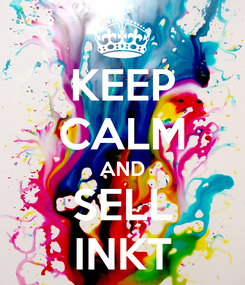 Poster: KEEP CALM AND SELL INKT