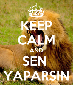 Poster: KEEP CALM AND SEN  YAPARSIN