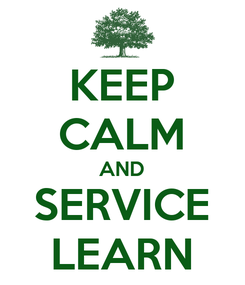 Poster: KEEP CALM AND SERVICE LEARN