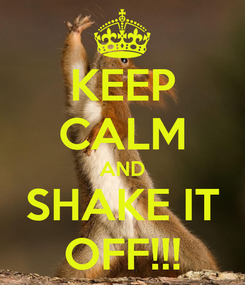 Poster: KEEP CALM AND SHAKE IT OFF!!!