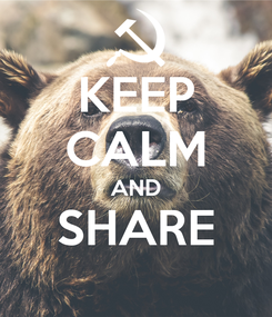 Poster: KEEP CALM AND SHARE