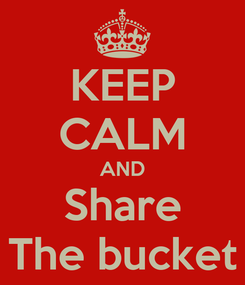 Poster: KEEP CALM AND Share The bucket