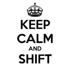 Poster: KEEP CALM AND SHIFT