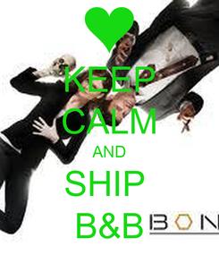 Poster: KEEP CALM AND SHIP  B&B