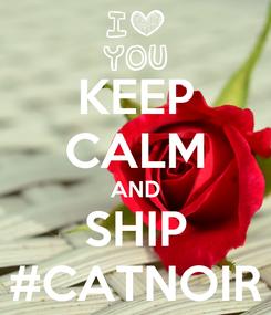 Poster: KEEP CALM AND SHIP #CATNOIR