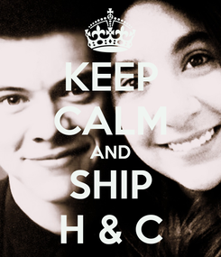 Poster: KEEP CALM AND SHIP  H & C